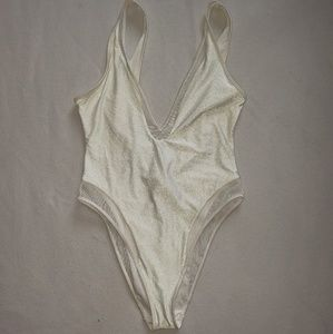 FOREVER 21 WHITE SWIMSUIT